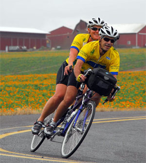 Laura and Duncan McCabe at the 2012 NorthWest Tandem Rally.