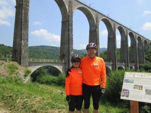 The impressive Viaduct Cize-Bolonon across the River Ain.