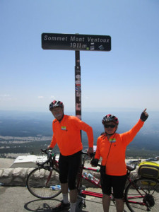 Don and Jean, top out on Ventoux.