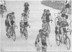 Tandems ride the Major Taylor Velodrome at MTR'95