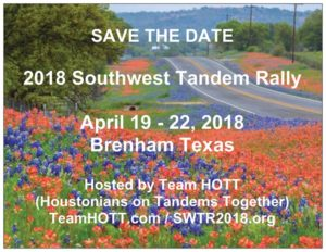 Southwest Tandem Rally @ Brenham, Texas
